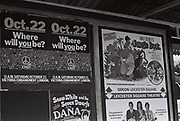 Tube station advert/poster for CND march, London, UK, 1983