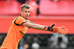 05.05.2019, BayArena, Leverkusen, GER, 1. FBL, Bayer 04 Leverkusen vs Eintracht Frankfurt, 32. Runde, im Bild Torhueter Lukas Hradecky (Bayer 04 Leverkusen ) gibt Anweisungen // during the German Bundesliga 32th round match between Bayer 04 Leverkusen and Eintracht Frankfurt at the BayArena in Leverkusen, Germany on 2019/05/05. EXPA Pictures © 2019, PhotoCredit: EXPA/ Eibner-Pressefoto/ Thomas Thienel-Pressefot<br /> <br /> *****ATTENTION - OUT of GER*****