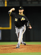 Sep. 20 2011; Phoenix, AZ, USA; Pittsburgh Pirates pitcher Charlie Morton (50) pitches during the third inning against the Arizona Diamondbacks at Chase Field.  Mandatory Credit: Jennifer Stewart-US PRESSWIRE..