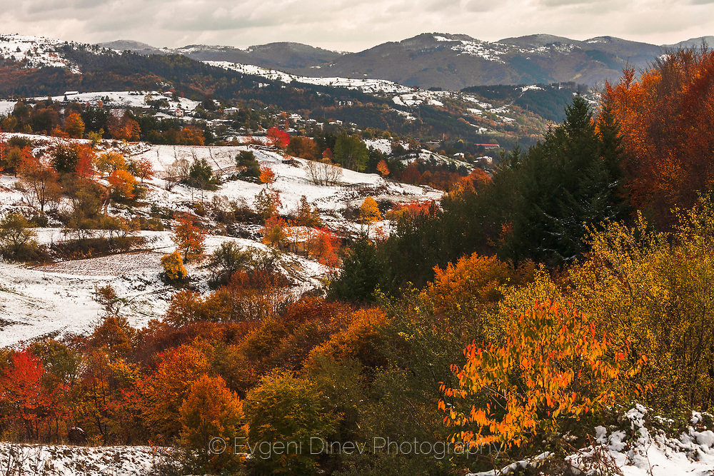 Rhodopean Mountains in late autumn