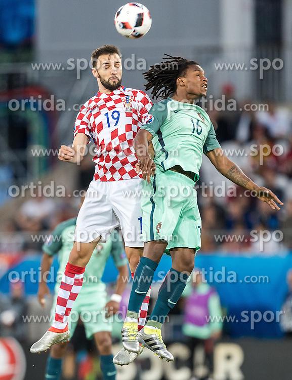 25.06.2016, Stade Bollaert Delelis, Lens, FRA, UEFA Euro 2016, Kroatien vs Portugal, Achtelfinale, im Bild Milan Badelj (CRO), Renato Sanches (POR) // Milan Badelj (CRO), Renato Sanches (POR) during round of 16 match between Croatia and Portugal of the UEFA EURO 2016 France at the Stade Bollaert Delelis in Lens, France on 2016/06/25. EXPA Pictures © 2016, PhotoCredit: EXPA/ JFK