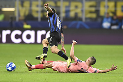 November 6, 2018 - Milan, Milan, Italy - João Mário of Inter Milan is challenged by Jordi Alba of Barcelona  during the UEFA Champions League Group Stage match between Inter Milan and Barcelona at Stadio San Siro, Milan, Italy on 6 November 2018. Photo by Giuseppe Maffia. (Credit Image: © AFP7 via ZUMA Wire)
