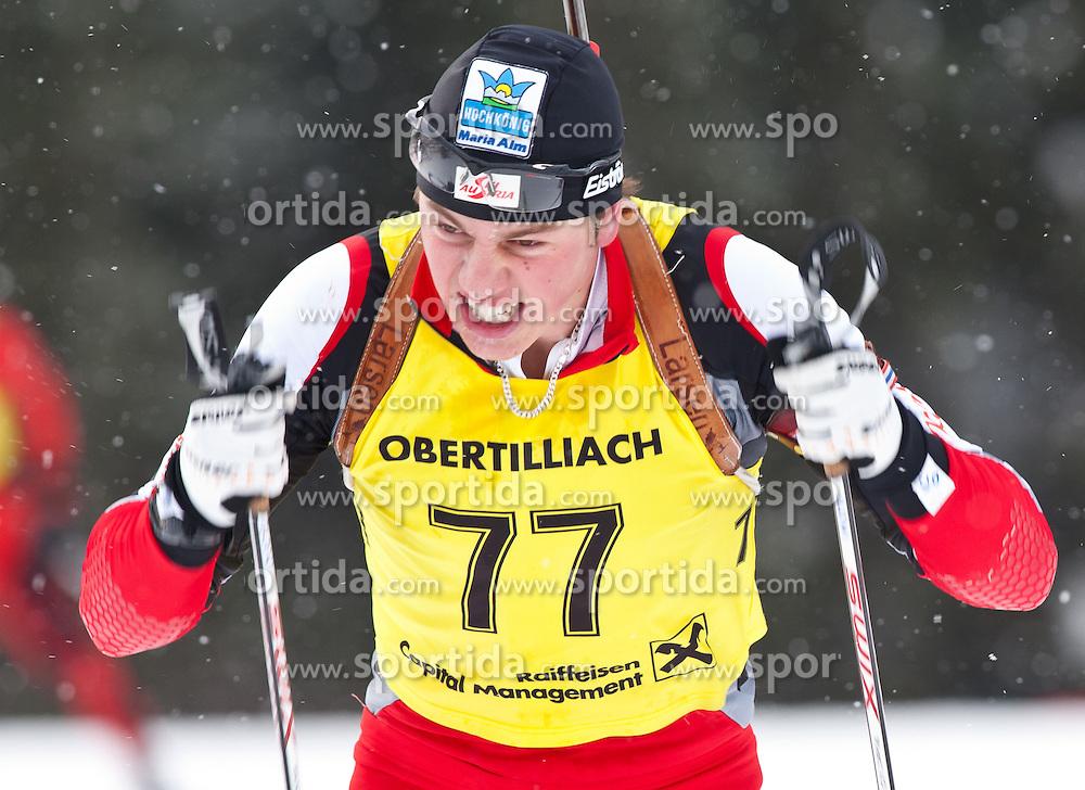 11.12.2010, Biathlonzentrum, Obertilliach, AUT, Biathlon Austriacup, Sprint Men, im Bild Sebastian Slowiok (AUT, #77). EXPA Pictures © 2010, PhotoCredit: EXPA/ J. Groder