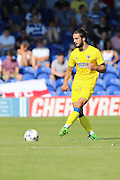 AFC Wimbledon midfielder Dan Gallagher (25) during the Pre-Season Friendly match between AFC Wimbledon and Reading at the Cherry Red Records Stadium, Kingston, England on 23 July 2016. Photo by Stuart Butcher.