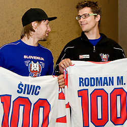 20100422: SLO, Marcel Rodman's and Mitja Sivic's anniversary of playing for Slovenia