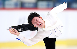 03.12.2015, Dom Sportova, Zagreb, CRO, ISU, Golden Spin of Zagreb, Kurzprogramm Herren, im Bild Denis Ten, Kazahstan // during the 48th Golden Spin of Zagreb 2015 Male Short Program of ISU at the Dom Sportova in Zagreb, Croatia on 2015/12/03. EXPA Pictures © 2015, PhotoCredit: EXPA/ Pixsell/ Slavko Midzor<br /> <br /> *****ATTENTION - for AUT, SLO, SUI, SWE, ITA, FRA only*****