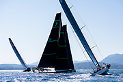 Evniki and Bella Mente sailing in the  Corfu Challenge, day one.