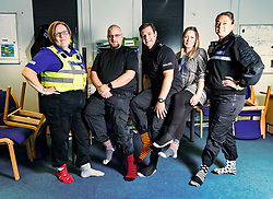Pictured: PCSO Marie Williams, SGT Colin Clarkson,  Insp Andy Morrice, DC Kerry Kinroy,, and SGT Rebekah Czajkowski<br /> Police officers at Boston Police Station were on their toes to support the Odd-Socks anti-bullying campaign.  The Bobby-soxers need to protect those feet as winter heads their way.<br /> <br /> <br /> James Sullivan| EEm 12 November 2018