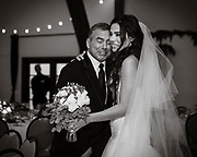 Bride with her father at a Lake Tahoe Wedding.<br /> Wedding photography
