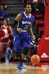 31 December 2014:  Devonte Brown during an NCAA Division 1 Missouri Valley Conference (MVC) men's basketball game between the Indiana State Sycamores beat the Illinois State Redbirds 63-61 at Redbird Arena in Normal Illinois