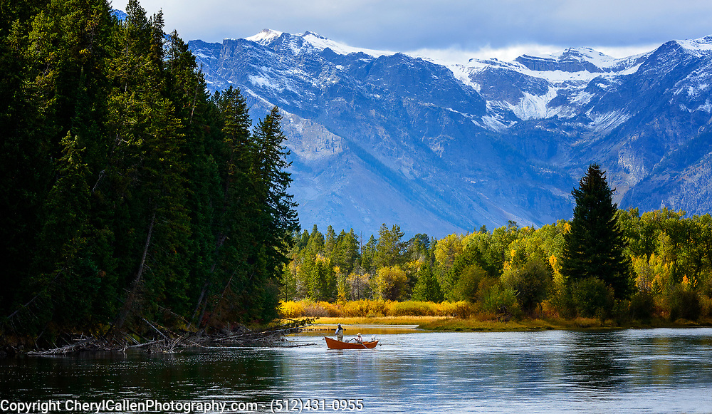 Fishermen on Oxbow Bend in Grand Teton National Park