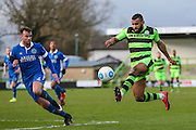 Forest Green Rovers Dan Wishart(17) controls the ball during the Vanarama National League match between Forest Green Rovers and Macclesfield Town at the New Lawn, Forest Green, United Kingdom on 4 March 2017. Photo by Shane Healey.