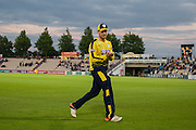 Liam Dawson of Hampshire during the NatWest T20 Blast South Group match between Hampshire County Cricket Club and Somerset County Cricket Club at the Ageas Bowl, Southampton, United Kingdom on 29 July 2016. Photo by David Vokes.