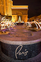 Arc de Triomphe and Paris Water Fountains, Las Vegas, Nevada
