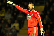 Sheffield United goalkeeper Mark Howard instructs his defenders during the Sky Bet League 1 match between Burton Albion and Sheffield Utd at the Pirelli Stadium, Burton upon Trent, England on 29 September 2015. Photo by Aaron Lupton.