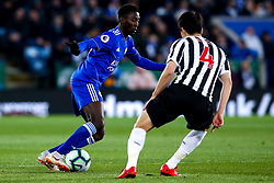 Wilfred Ndidi of Leicester City takes on Ki Sung-Yueng of Newcastle United - Mandatory by-line: Robbie Stephenson/JMP - 12/04/2019 - FOOTBALL - King Power Stadium - Leicester, England - Leicester City v Newcastle United - Premier League