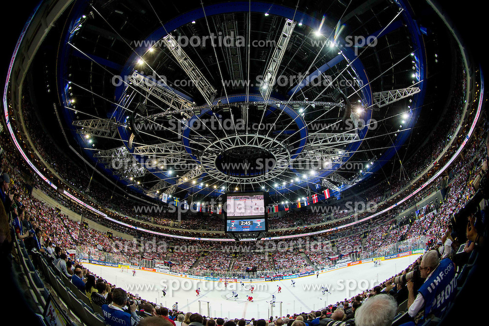 Full arena during Ice Hockey match between Finland and Czech Republic at Quarterfinals of 2015 IIHF World Championship, on May 14, 2015 in O2 Arena, Prague, Czech Republic. Photo by Vid Ponikvar / Sportida