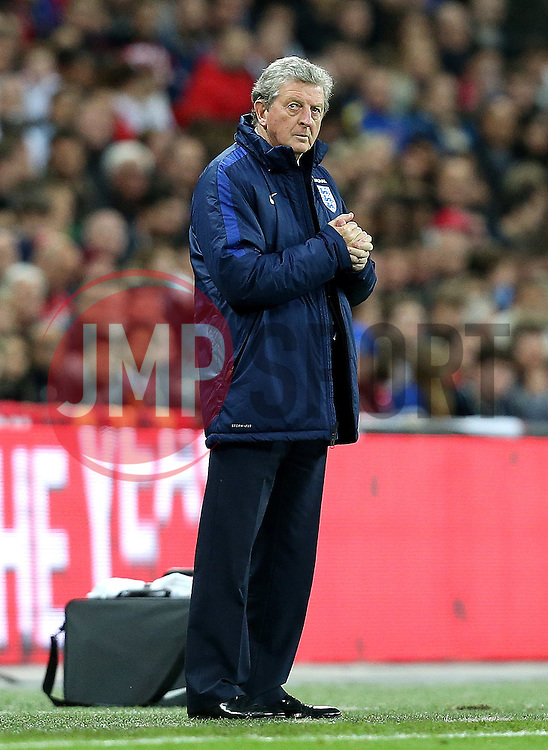 Roy Hodgson England Manager looks up - Mandatory by-line: Robbie Stephenson/JMP - 02/06/2016 - FOOTBALL - Wembley Stadium - London, United Kingdom - England v Portugal - International Friendly