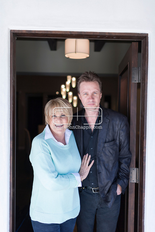 November 5, 2013. Los Angeles, California. Actress and singer Lorna Luft pictured with her husband Colin Freeman in Los Angeles. Lorna is the daughter of singer and actress Judy Garland and Sid Luft, and the sister of singer and actress Liza Minnelli.<br />  Photo Copyright John Chapple / www.JohnChapple.com