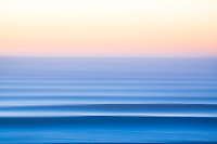 Slow shutter photo of the Pacific Ocean as seen from the Oregon Coast.