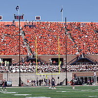 Fighting Illini fans during the Illinois vs Charleston Southern game at Memorial Stadium, Champaign, Illinois, September 15, 2012. George Strohl/AI Wire.