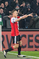 ROTTERDAM - Feyenoord - FC Groningen , Voetbal , Eredivisie , Seizoen 2016/2017 , Feijenoord stadion de Kuip , 11-02-2017 ,  Feyenoord speler Jens Toornstra viert zijn 2e goal voor de 2-0