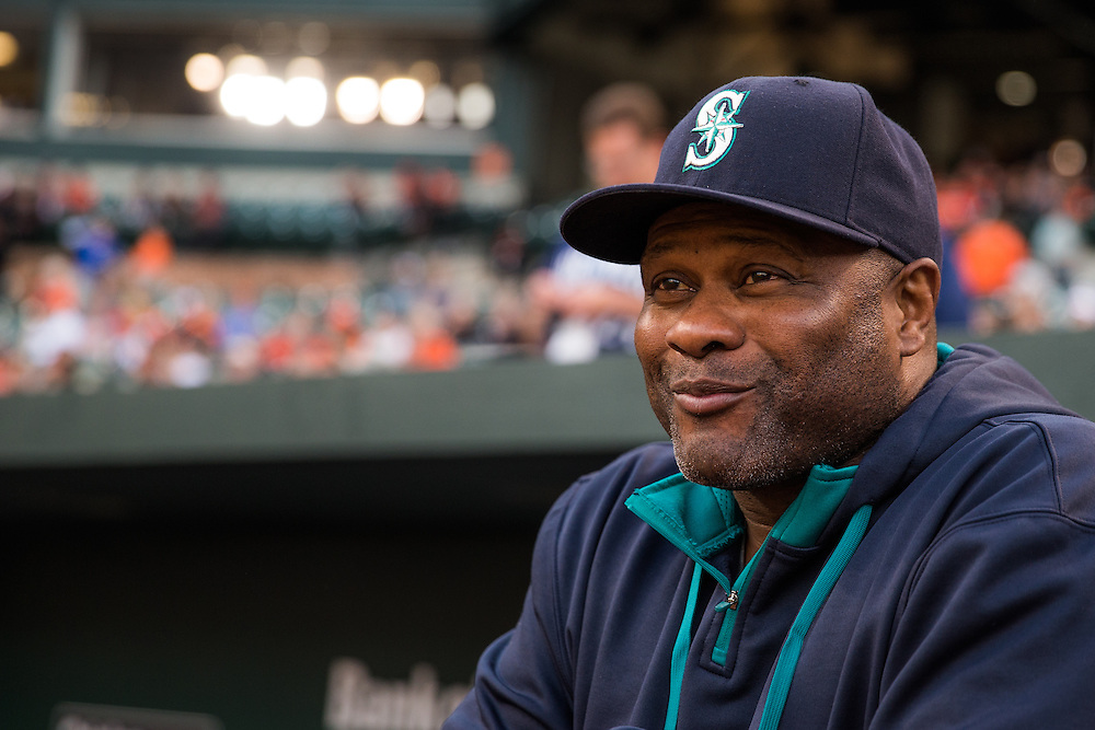 BALTIMORE, MD - MAY 20:  Manager Lloyd McClendon of the Seattle Mariners looks on during the game against the Baltimore Orioles at Oriole Park at Camden Yards on May 20, 2015 in Baltimore, Maryland. (Photo by Rob Tringali) *** Local Caption *** Lloyd McClendon