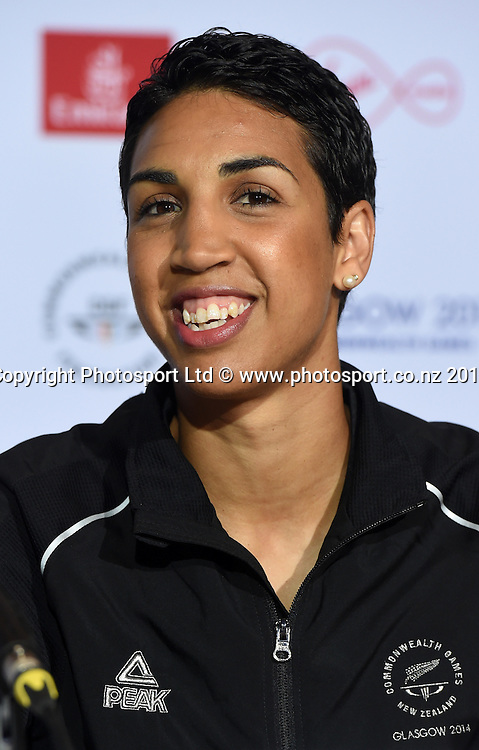 Alexis Pritchard during a Boxing press conference at the Main Press Centre. Glasgow Commonwealth Games 2014. Scotland. Wednesday 23 July 2014. Photo: Andrew Cornaga/www.Photosport.co.nz