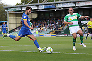 George Francomb of AFC Wimbledon during the Sky Bet League 2 match between Yeovil Town and AFC Wimbledon at Huish Park, Yeovil, England on 12 September 2015. Photo by Stuart Butcher.