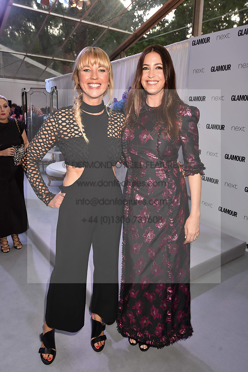 Left to right, Sara Cox and Lisa Snowdon at the Glamour Women of The Year Awards 2017 in association with Next held in Berkeley Square Gardens, London England. 6 June 2017.