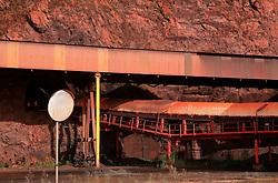 SPAIN GIJON 3OCT08 - Conveyor belt for coal unloaded from bulk carriers in the port of Gijon, northern Spain.....jre/Photo by Jiri Rezac....© Jiri Rezac 2008....Contact: +44 (0) 7050 110 417..Mobile:  +44 (0) 7801 337 683..Office:  +44 (0) 20 8968 9635....Email:   jiri@jirirezac.com..Web:    www.jirirezac.com....All images © Jiri Rezac 2008. All rights reserved.