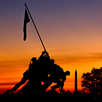 The U. S. Marine Corp War Memorial at daybreak.