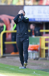 Dundee United&rsquo;s manager Jackie McNamara.<br /> Half time : Dundee United 1 v 0 Inverness Caledonian Thistle, SPFL Ladbrokes Premiership game played 19/9/2015 at Tannadice.
