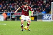 Northampton Town defender Zander Diamond during the Sky Bet League 2 match between Northampton Town and York City at Sixfields Stadium, Northampton, England on 6 February 2016. Photo by Dennis Goodwin.