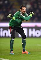 FUSSBALL INTERNATIONAL   SERIE A   SAISON  2014/2015   12. Spieltag AC Mailand - Inter Mailand                      23.11.2014 Torwart Diego Lopez (AC Mailand)