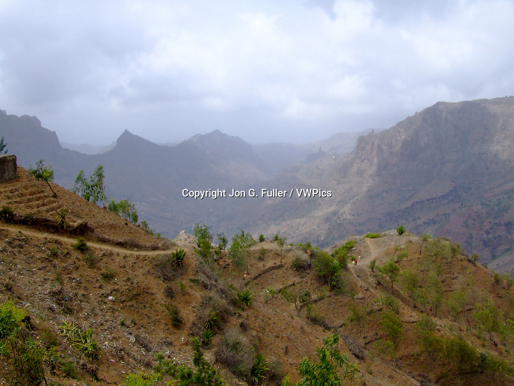 Mountainous central region of the island of Santiago, Republic of Cabo Verde.