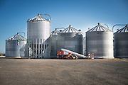 Grain silos at Madison Farms in Echo, Oregon.