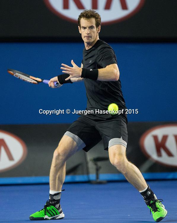 Andy Murray (GBR)<br /> <br />  - Australian Open 2015 - Ambience- -  Melbourne Park Tennis Centre - Melbourne - Victoria - Australia  - 25 January 2015. <br /> &copy; Juergen Hasenkopf