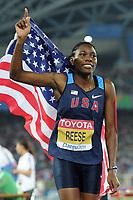 ATHLETICS - IAAF WORLD CHAMPIONSHIPS 2011 - DAEGU (KOR) - DAY 2 - 28/08/2011 - WOMEN LONG JUMP FINAL - BRITTNEY REESE (USA) / WINNER - PHOTO : FRANCK FAUGERE / KMSP / DPPI