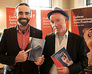 REPRO FREE:  Sean T O Meallaigh and Diarmuid deFaoite from Baoite in Hotel Meyrick for the announcement of the programme for the 2018 Galway International Arts Festival Programme 16-29 July which features an exciting Irish and international programme of theatre, opera, dance, circus, music, spectacle, visual art, and First Thought Talks featuring interviews and discussions on the theme of home, six world premieres, five Irish premieres and artists and theatre makers from across the world. Highlights include world premieres of Paul Muldoon's Incantata, new plays by Sonya Kelly and Cristin Kehoe (Druid) and a new theatre installation from Enda Walsh, visual arts / installations commissions from David Mach Rock 'n' Roll and Olivier Grossetête The People Build. Photo:Andrew Downes, xposure.