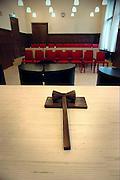 Nederland, Nijmegen, 24-5-2004..Rechtszaal van het kantongerecht. Justitie, rechterlijke macht, rechtspraak, rechter, veroordeling, misdaad, wetten, wetgeving, tbs, rechtbank...Foto: Flip Franssen/Hollandse Hoogte