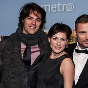 NLD/Amsterdam/20150119 - Premiere film Homies, Erwan van Buuren, Vivienne van Assem en Patrick Martens