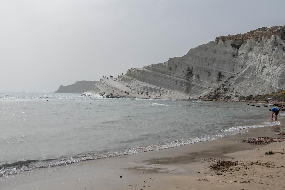 Sciacca- the amazing white limestone cliffs of Scala Dei Turchi