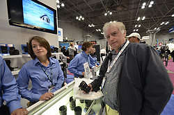 Lens Test again at Tamron Booth. Good demo of what can happen at close range @ 10mm: Head-Body are really not disparagingly different in size. As seen at The NYC PhotoExpo 2011