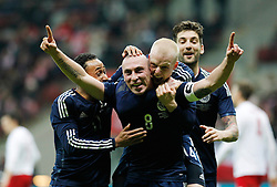 05.03.2014, Kazimierz Gorski Stadium, Warschau, POL, Testspiel, Polen vs Schottland, im Bild SCOTT BROWN SCOTLAND RADOSC CELEBRATE // SCOTT BROWN SCOTLAND RADOSC CELEBRATE during the International Friendly match between Poland and Scotland at the Kazimierz Gorski Stadium in Warschau, Poland on 2014/03/05. EXPA Pictures © 2014, PhotoCredit: EXPA/ Newspix/ MICHAL CHWIEDUK<br /> <br /> *****ATTENTION - for AUT, SLO, CRO, SRB, BIH, MAZ, TUR, SUI, SWE only*****