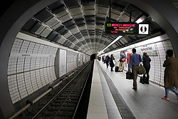 September 10, 2017 - Hamburg, Germany - A view of Hamburg subway, in Hamburg, Germany. Hamburg has a Metro system (underground or U-Bahn) consisting of 4 lines and 91 stations. It was opened in 1912. (Credit Image: © Oscar Gonzalez/NurPhoto via ZUMA Press)