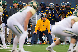 Dec 3, 2016; Morgantown, WV, USA; West Virginia Mountaineers defensive coordinator Tony Gibson is seen on the sidelines during the first quarter against the Baylor Bears at Milan Puskar Stadium. Mandatory Credit: Ben Queen-USA TODAY Sports