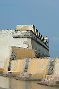 San Jose Battery courtyard (Spanish fort-1753), Baru island,  Cartagena de Indias, Bolivar Department,, Colombia, South America..