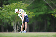 Oxford High's Ward Toler tees off on the 5th hole during the opening round of the MHSAA Class 5A state championship golf tournament at the Ole Miss Golf Course in Oxford, Miss. on Wednesday, May 1, 2013.