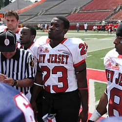 Jun 7, 2009; Piscataway, NJ, USA; New Jersey vs the Northeast All Star Football game at Rutgers Stadium